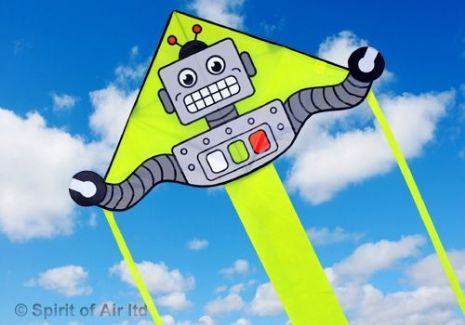 Super Flyer Robot Kite for Childrens Boys Space Fun Kids Outdoor Camping Beach Sports Games & Gifts